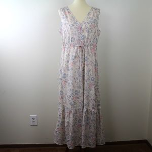 Lucky Brand Lined Cottagecore Long Praire Dress L